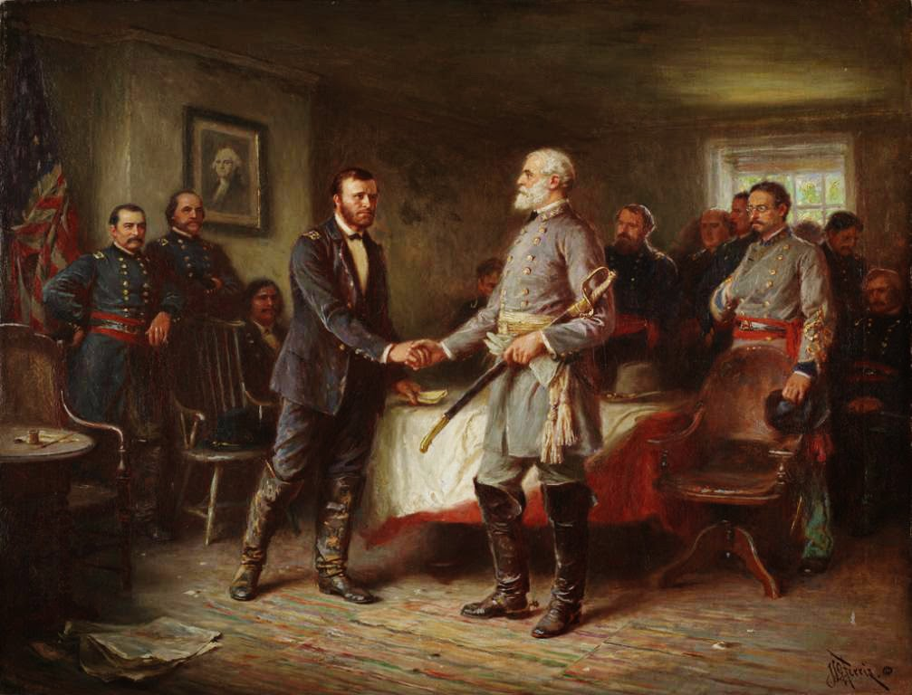 Surrender at appomattox date in Melbourne